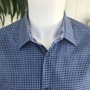 Robert Graham Shirts - Robert Graham Scull Cuff Dress Shirt Sz L 42 16.5
